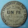Banknotes Langres (52) (place de). Billet. 1 franc 3.9.1870, carton gris