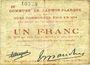 Banknotes Lauwin-Planque (59). Commune. Billet. 1 franc 1914