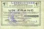 Banknotes Lavaqueresse (02). Commune. Billet. S.Q.G., 1 franc 8.8.1916