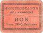 Banknotes Lavardens (32). Commerçants. Billet. 5 centimes. N° 45 !
