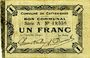 Banknotes Le Cateau (59). Comité d'Alimentation. Billet. 1 franc 12.12.1915, série A.