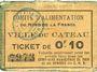 Banknotes Le Cateau (59). Comité d'Alimentation. Billet. 10 cent
