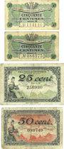 Banknotes Le Puy (43). Chambre de Commerce. Billet. 50 cmes (2ex) série B, C, 25 cmes série D, 50 cmes série D