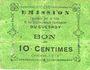 Banknotes Le Quesnoy (59). Ville et Etablissements Charitables. Billet. 10 centimes octobre 1915