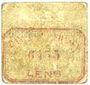 Banknotes Lens (62). Ville. Billet. 2 sous. Au revers, cachet rouge de la Banque de France avec le n° 6455