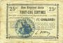 Banknotes Lesdins (02). Commune. Billet. B.R.U., 25 cmes