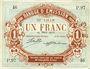 Banknotes Lille (59). Banque d'Emission. Billet. 1 franc 12.3.1915, série P