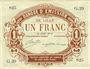 Banknotes Lille (59). Banque d'Emission. Billet. 1 franc 17.8.1914, série G