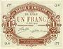 Banknotes Lille (59). Banque d'Emission. Billet. 1 franc 17.8.1914, série Q