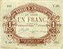 Banknotes Lille (59). Banque d'Emission. Billet. 1 franc 17.8.1914, série Y