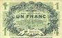 Banknotes Lille (59). Ville. Billet. 1 franc 15.12.1917, série I