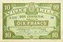 Banknotes Lille (59). Ville. Billet. 10 francs 15.12.1917, série Z