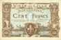 Banknotes Lille (59). Ville. Billet. 100 francs 11.4.1917, série K, annulation par double perforation