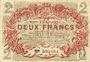 Banknotes Lille (59). Ville. Billet. 2 francs 15.12.1917, série D