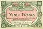 Banknotes Lille (59). Ville. Billet. 20 francs 15.12.1917, série P