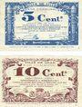 Banknotes Lille (59). Ville. Billet. 5 cmes, 10 cmes 31.10.1917, série B