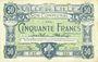 Banknotes Lille (59). Ville. Billet. 50 francs 13.7.1917, série E
