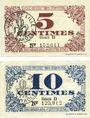 Banknotes Lille (59). Ville. Billets. 5 cmes, 10 cmes 31.10.1917, série D