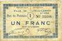 Banknotes Lys-Lez-Lannoy (59). Ville. Billet. 1 franc, 8e série