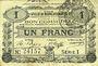 Banknotes Marchiennes (59). Ville. Billet. 1 franc 24.10.1915, série 1