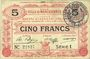 Banknotes Marchiennes (59). Ville. Billet. 5 francs 24.10.1915, série 1