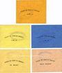 Banknotes Marnaval (52). Sté des Acièries de Micheville série de 5 billets, 10, 25, 50 cmes, 1 franc, 2 francs