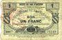 Banknotes Maroilles (59). Pour les Maires des Communes adhérentes. Billet. 1 franc 30.7.1916, série 7