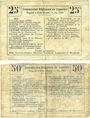 Banknotes Marteville-Attilly (02). Billet. B.R.U., 25 cmes, 50 cmes