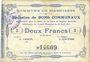 Banknotes Masnières (59). Commune. Billet. 2 francs 16.4.1915