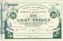 Banknotes Maubeuge & Solre-le-Château (59). Syndicat des Communes. Billet. 20 francs  18.3.1916, série 11
