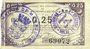 Banknotes Maubeuge & Solre-le-Château (59). Syndicat des Communes. Billet. 25 centimes 22.12.1915