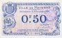 Banknotes Mayenne (53). Ville. Billet. 50 centimes 8.12.1917