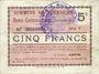 Banknotes Méricourt (62). Commune. Billet. 5 francs , émission 1915, série F