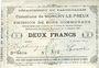 Banknotes Monchy-le-Preux (62). Commune. Billet. 2 francs 24.10.1915, 3e série