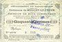 Banknotes Monchy-le-Preux (62). Commune. Billet. 50 cmes 27.7.1915, 2e série. Cachet de la perception d'Amiens