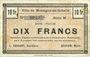 Banknotes Montigny-en-Gohelle (62). Ville. Billet. 10 francs 9.11.1914, série M