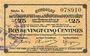 Banknotes Montmédy (55). Syndicat de Communes de la région de Montmédy. Billet. 25 centimes 24.5.1917, série L