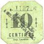 Banknotes Mouvaux (59). Ville. Billet. 10 centimes, cachet en 2 lignes