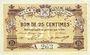 Banknotes Mouy (60). Ville. Billet. 25 centimes 18.9 et 21.11.1915 et 9.8.1916