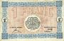 Banknotes Mulhouse (68). Ville. Billet 1 franc 18.12.1918. Série F