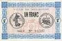Banknotes Mulhouse (68). Ville. Billet 1 franc 18.12.1918. Série G