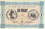 Banknotes Mulhouse (68). Ville. Billet 1 franc 18.12.1918. Série H
