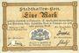 Banknotes Mulhouse (68). Ville. Billet 1 mark 10.9.1914. Annulé par perforation