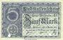 Banknotes Mulhouse (68). Ville. Billet 5 mark 15.10.1918. Annulé par double perforation