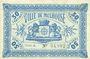 Banknotes Mulhouse (68). Ville. Billet 50 centimes 18.12.1918. Série A