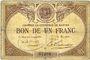 Banknotes Nantes (44). Chambre de Commerce. Billet. 1 franc, série M