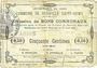 Banknotes Neuville-Saint-Rémy (59). Commune. Billet. 50 centimes 29.8.1915