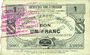 Banknotes Neuvilly (59). Société des Bons d'Emission. Billet. 1 franc, série 1