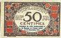 Banknotes Nice (06). Chambre de Commerce. Billet. 50 centimes 25.4.1917, série 112