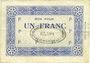 Banknotes Noeux-les-Mines (62). Cie des Mines de Vicoigne et de Noeux-les-Mines. Billet. 1 franc